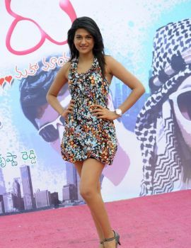 Shraddha Das Stills at Mugguru Movie Banner Launch