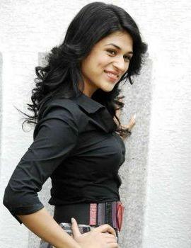 Telugu Actress Shraddha Das Stills in Black Dress