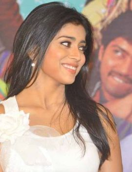 Shriya Saran at Nuvva Nena Movie Press Meet
