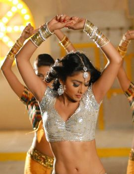 Shriya Saran Hot Navel Photos from Nuvva Nena Movie