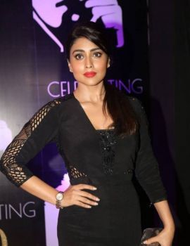 Shriya Saran in Black Dress at Chiranjeevi 60th Birthday Party