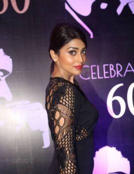 Shriya Saran in Black Dress at Chiranjeevi 60th Birthday Party