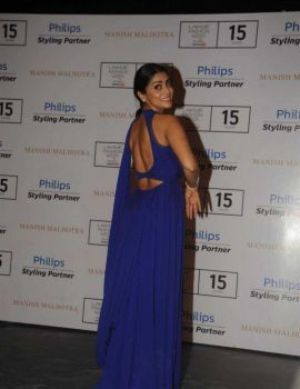 Shriya Saran in Blue Dress at The Lakhme Fashion Week Winter Festive