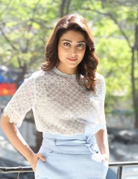 Shriya Saran Photos at Gayatri Movie Promotions