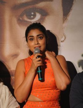 Shriya Saran Stills at Drishyam Movie Promotion Event