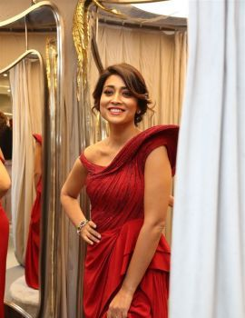 Shriya Saran Stills at Gaurav Gupta Fashion Store Launch