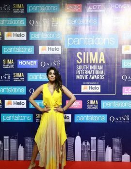 Shriya Saran Stills at SIIMA Awards 2019 Curtain Raiser Event