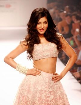 Shruti Haasan On The Ramp at Lakme Fashion Week 2014