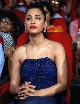 Shruti Haasan Stills at Telugu Film Srimanthudu Audio Launch Event