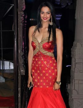 Shubra Aiyappa in Red Dress at An Ode To Weaves & Weavers Fashion Show