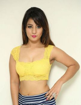Telugu Heroine Shunaya Solanki Stills in Yellow Dress at Box Movie Audio Launch