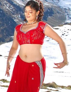 Siya Gautham in Red Saree Stills from Tamil Movie Song
