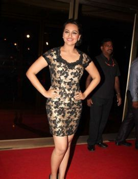 Actress Sonakshi at the success bash of