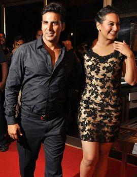 Actress Sonakshi at the success bash of
