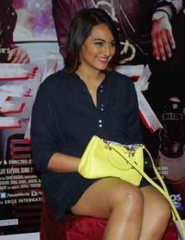 Sonakshi at the promotion of Hindi movie