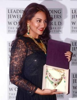 Sonakshi Sinha Sports Black Dress at IIBS Inaugural Event