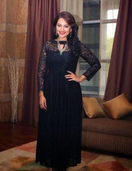 Sonakshi Sinha Sports Black Dress at IIBS Inaugural Event