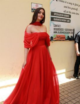Bollywood Actress Sonam Kapoor at The Zoya Factor Movie Trailer Launch