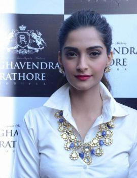 Sonam Kapoor Stills at Raghavendra Rathore Store Launch