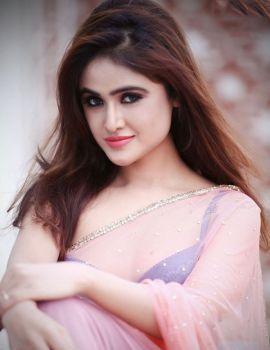 Sony Charishta Glamorous Stills in Pink Saree