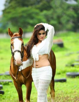 Sony Charishta Hot Photoshoot with Horse