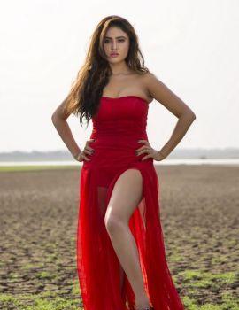 Sony Charishta Hot Red Dress Latest Photoshoot Stills