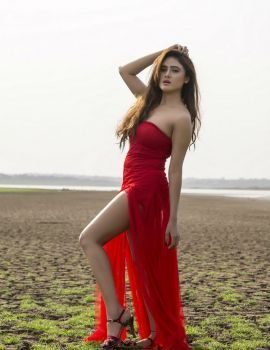 Sony Charishta Hot Red Dress Latest Photoshoot Stills