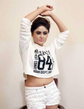 Sony Charishta Latest Photoshoot Stills in White T-Shirt and Short