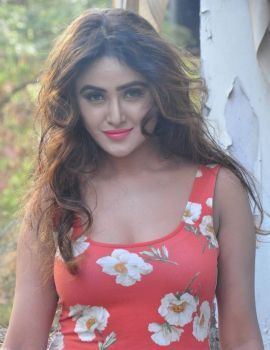 Sony Charishta Latest Stills in Red Floral Dress