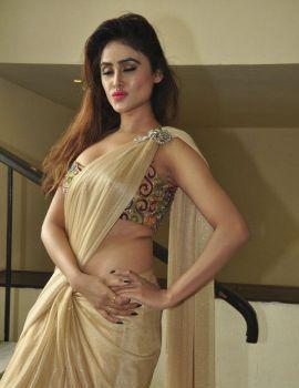 Sony Charishta Stills at Aura Fashion Exhibition Launch