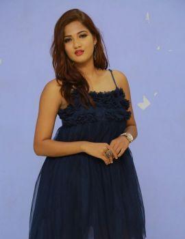 Sravani Nikki Stills at Life Anubhavinchu Raja Movie Trailer Launch