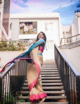 Kollywood Actress Subiksha Photoshoot Stills in Saree