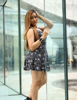 Sufi Khan Flaunting Thighs Stills in Short Skirt