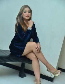 Telugu Actress Sufi Khan Stills at Hyderabad Nawab 2 Trailer Launch
