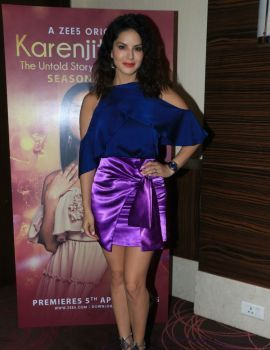 Sunny Leone at an event of her web series Karenjit Kaur