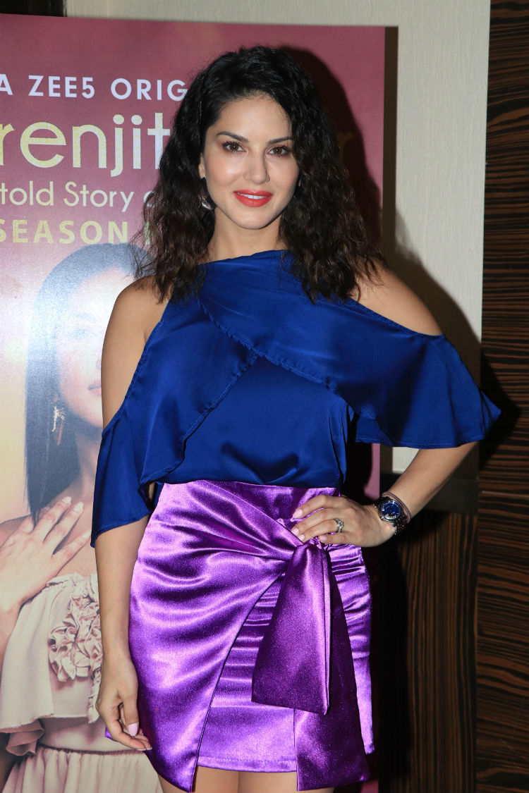 Sunny Leone at an event of her web series Karenjit Kaur
