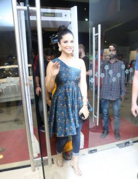 Sunny Leone at PSV Garuda Vega Pre Release Mission Event