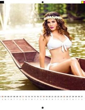 Sunny Leone in Manforce Bikini Calendar 2016