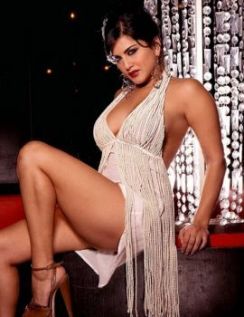 Sunny Leone Latest Spicy White Dress Photoshoot