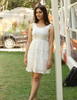 Surbhi Stills at Express Raja Success Meet