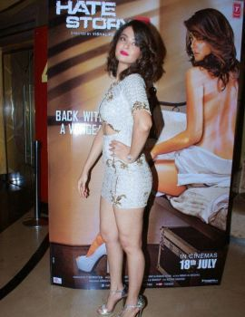 Surveen Chawla Poses at the Hate Story 2 Trailer Launch