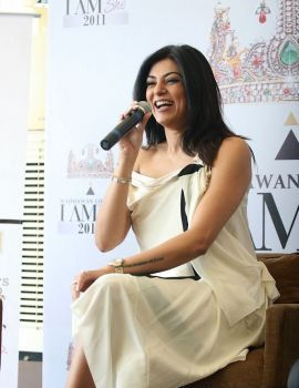 Sushmita Sen at the Media Meet of I AM She & Wadhawan Lifestyle Tie-up
