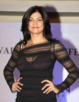 Sushmita Sen Stills in Black Dress