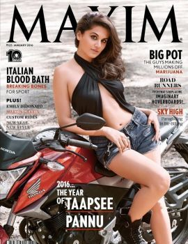 Acress Tapsee Pannu Hot PhotoShoot for Maxim India Magazine 2016