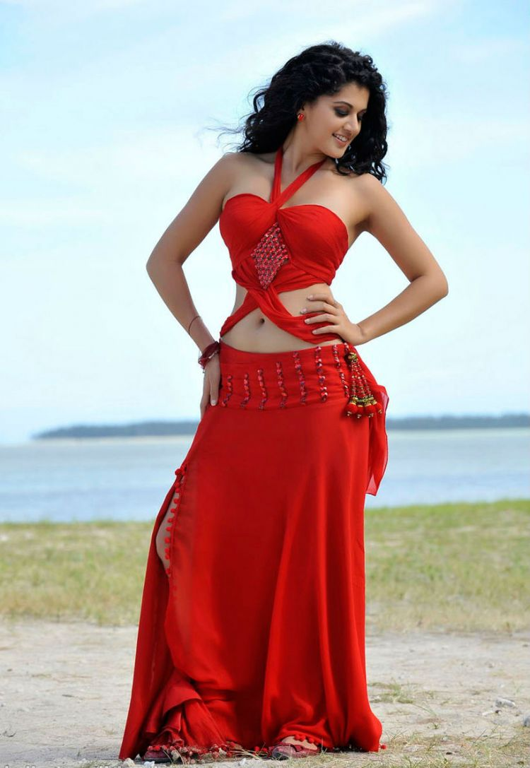 Taapsee Pannu Hot Navel Stills from Movie Veera