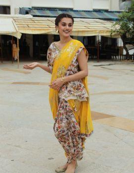Taapsee Stills at Mission Mangal Movie Press Meet