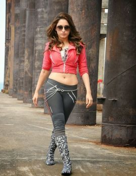 Actress Tamanna Latest Photos from Telugu Movie Rebel