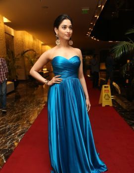 Glamorous Tamanna at Abhinetri Audio Launch Event