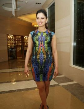 Tamanna Bhatia at the Launch of Celkon Octa 510 Android Smartphone in Hyderabad