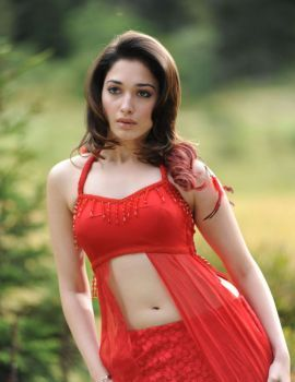 Tamanna Bhatia Looks Stunning in Hot Red Dress